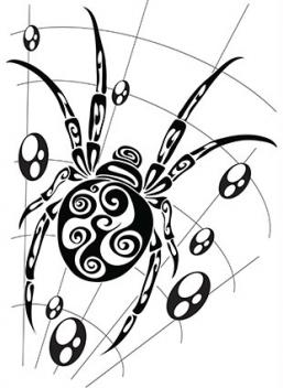 Spider Web Tattoo Designs
